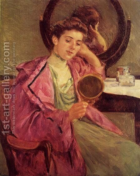 Woman At Her Toilette by Mary Cassatt - Reproduction Oil Painting
