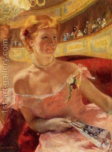 Woman In A Loge by Mary Cassatt - Reproduction Oil Painting