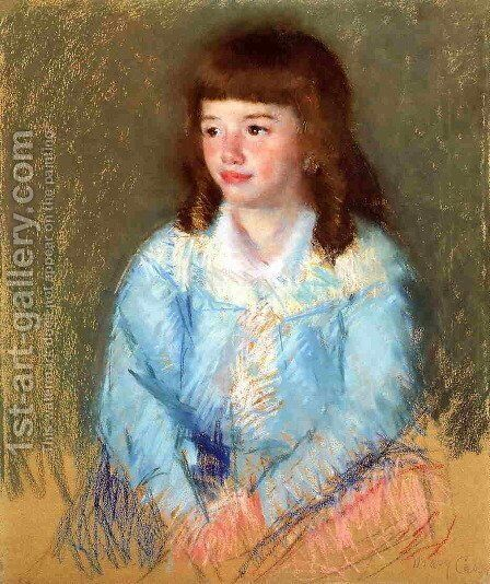 Young Boy In Blue by Mary Cassatt - Reproduction Oil Painting