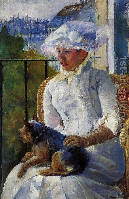 Young Girl At A Window by Mary Cassatt - Reproduction Oil Painting