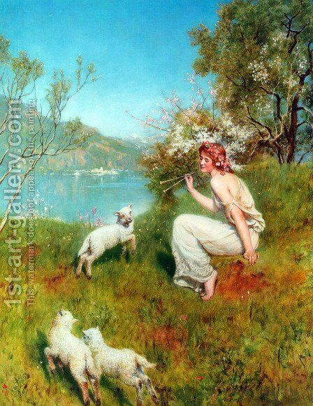 Spring by John Maler Collier - Reproduction Oil Painting