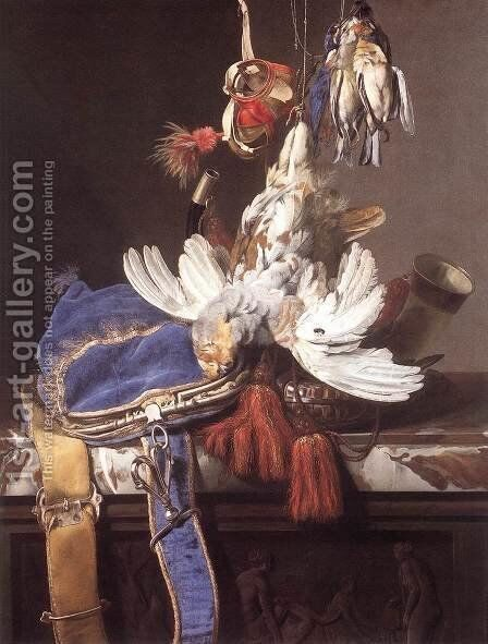 Hunting Still-Life 2 by Willem Van Aelst - Reproduction Oil Painting