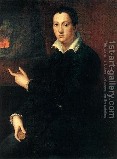 Portrait of a Young Man by Alessandro Allori - Reproduction Oil Painting