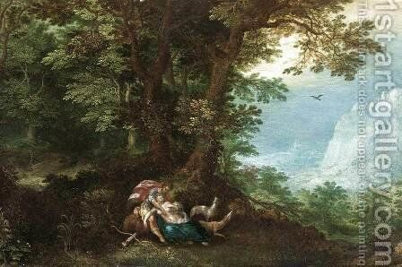 Extensive Wooded Landscape with Cephalus and Procris by Denys Van Alsloot - Reproduction Oil Painting