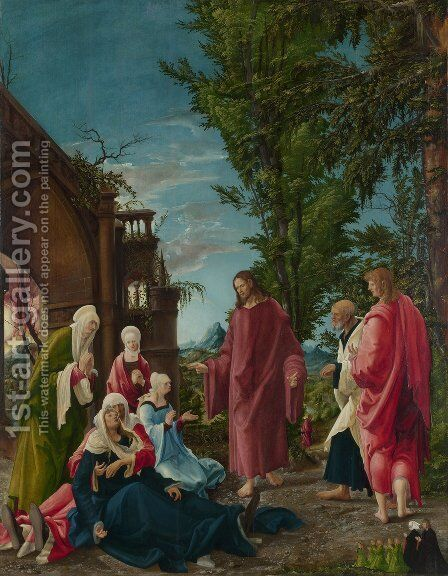 Christ Taking Leave of His Mother 1520 by Albrecht Altdorfer - Reproduction Oil Painting