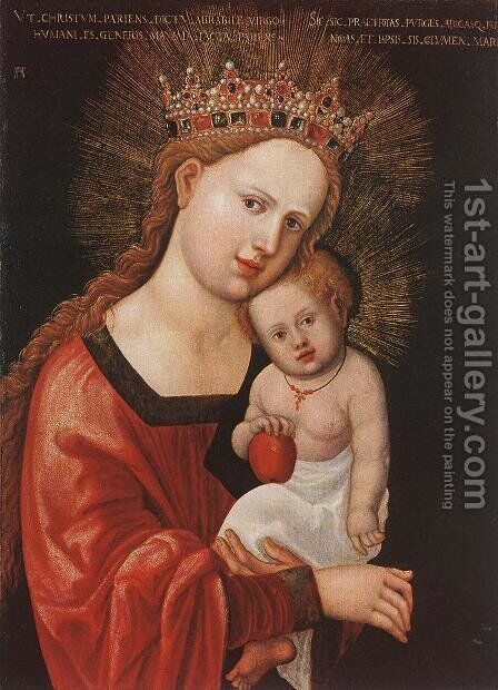 Mary with the Child 1520 by Albrecht Altdorfer - Reproduction Oil Painting