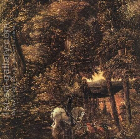 Saint George in the Forest 1510 by Albrecht Altdorfer - Reproduction Oil Painting