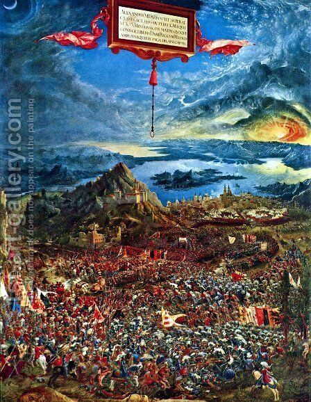 The Battle of Alexander 1529 by Albrecht Altdorfer - Reproduction Oil Painting