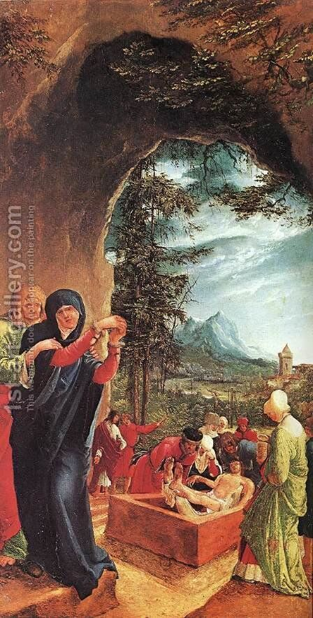 The Entombment  1516 by Albrecht Altdorfer - Reproduction Oil Painting