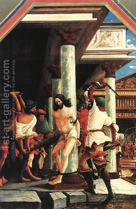 The Flagellation of Christ 1518 by Albrecht Altdorfer - Reproduction Oil Painting
