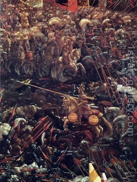 The Battle of Alexander, (detail-1), 1529 by Albrecht Altdorfer - Reproduction Oil Painting