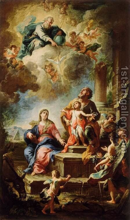 Rest on the Flight to Egypt 1737 by Martino Altomonte - Reproduction Oil Painting