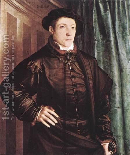 Christoph Fugger 1541 by Christoph Amberger - Reproduction Oil Painting
