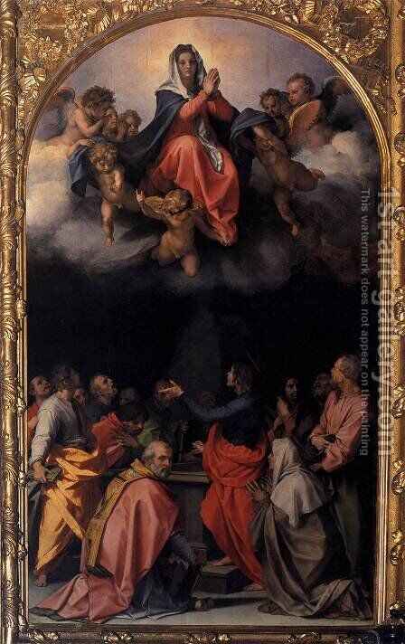 Assumption of the Virgin 1526 by Andrea Del Sarto - Reproduction Oil Painting