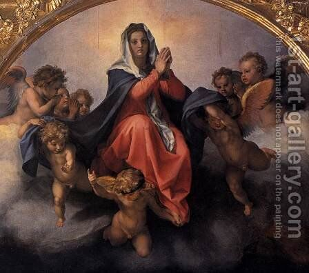 Assumption of the Virgin (detail) 1526 by Andrea Del Sarto - Reproduction Oil Painting