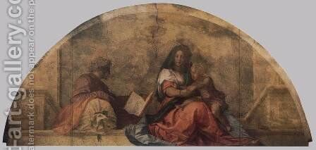 Madonna del sacco (Madonna with the Sack) 1525 by Andrea Del Sarto - Reproduction Oil Painting