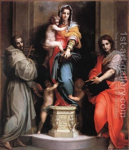 Madonna of the Harpies 1517 by Andrea Del Sarto - Reproduction Oil Painting