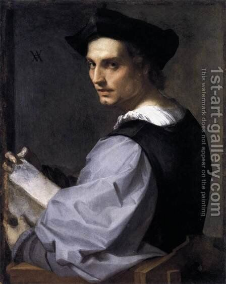 Portrait of a Young Man 1517 by Andrea Del Sarto - Reproduction Oil Painting