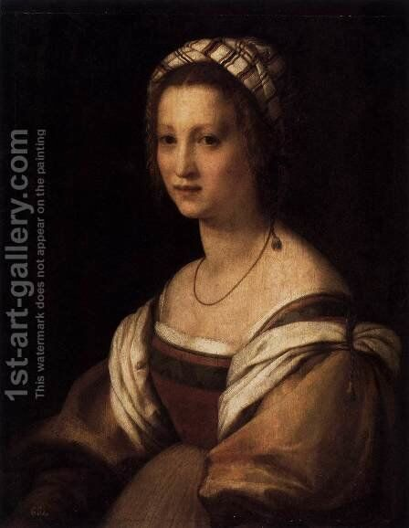 Portrait of the Artist's Wife 1513 by Andrea Del Sarto - Reproduction Oil Painting