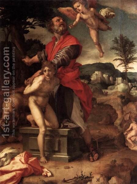 The Sacrifice of Abraham 1527 by Andrea Del Sarto - Reproduction Oil Painting