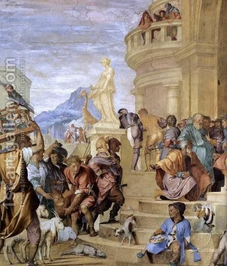 Triumph of Caesar (detail) 1520 by Andrea Del Sarto - Reproduction Oil Painting