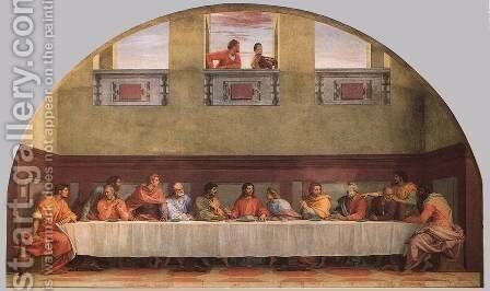 The Last Supper 1520 by Andrea Del Sarto - Reproduction Oil Painting