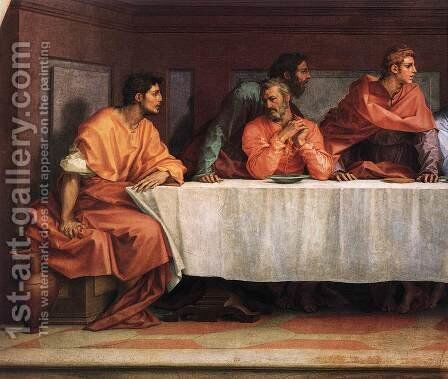 The Last Supper (detail 2) 1520 by Andrea Del Sarto - Reproduction Oil Painting