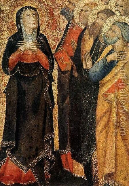 Ascension of Christ (detail) 1355 by di Vanni d'Andrea Andrea - Reproduction Oil Painting