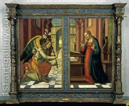The Annunciation by Arcangelo Di Jacopo Del Sellaio - Reproduction Oil Painting