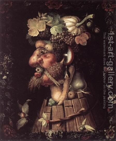 Autumn 1573 by Giuseppe Arcimboldo - Reproduction Oil Painting