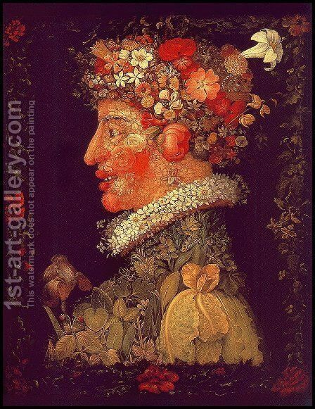 Spring 1573 by Giuseppe Arcimboldo - Reproduction Oil Painting