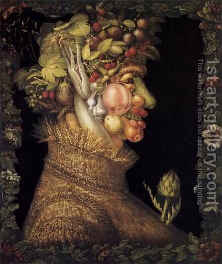 Summer 1573 by Giuseppe Arcimboldo - Reproduction Oil Painting