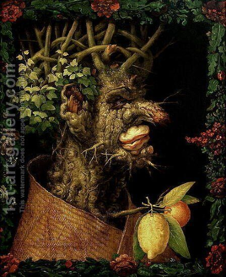 Winter 1573 by Giuseppe Arcimboldo - Reproduction Oil Painting