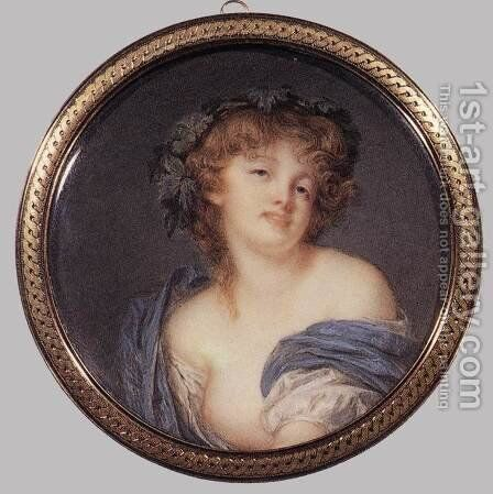 A Bacchante 1799, Ivory by Jacques-Jean- Baptiste Augustin - Reproduction Oil Painting