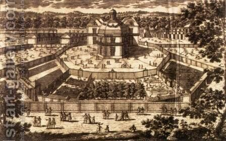 View and Perspective of the Ménagerie at Versailles by Antoine Aveline - Reproduction Oil Painting