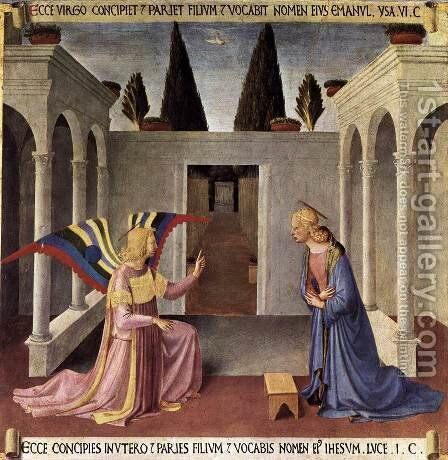 Annunciation 1450 by Angelico Fra - Reproduction Oil Painting