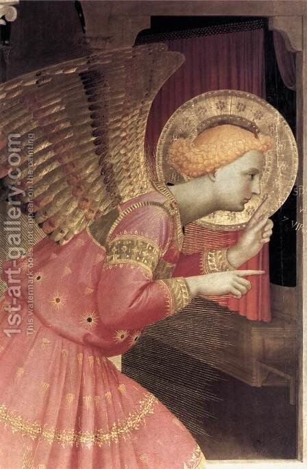 Annunciation (detail 1) 1433 by Angelico Fra - Reproduction Oil Painting