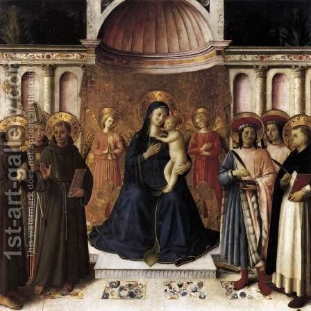 Bosco ai Frati Altarpiece  1450 by Angelico Fra - Reproduction Oil Painting