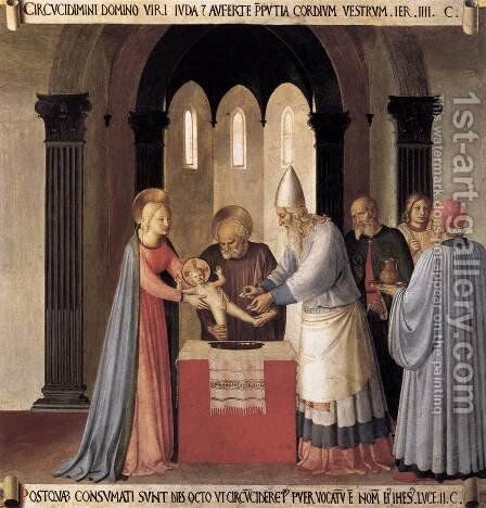 Circumcision 1450 by Angelico Fra - Reproduction Oil Painting