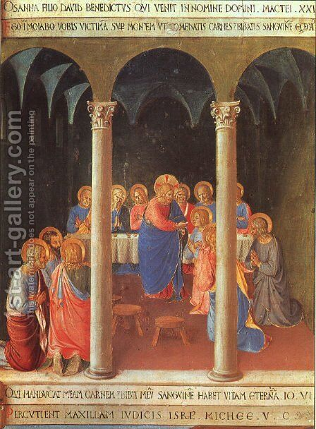 Communion of the Apostles 1450 by Angelico Fra - Reproduction Oil Painting