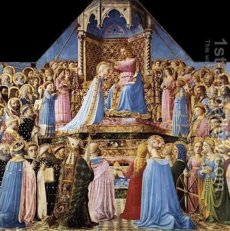 Coronation of the Virgin 1434 by Angelico Fra - Reproduction Oil Painting