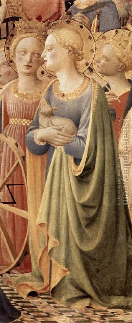 Coronation of the Virgin (detail 2) 1434 by Angelico Fra - Reproduction Oil Painting