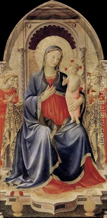Cortona Polyptych (central panel) 1437 by Angelico Fra - Reproduction Oil Painting