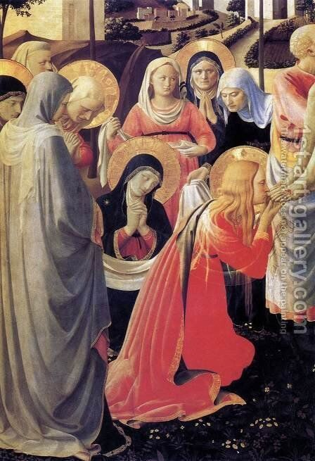 Deposition from the Cross (detail 5) 1437 by Angelico Fra - Reproduction Oil Painting