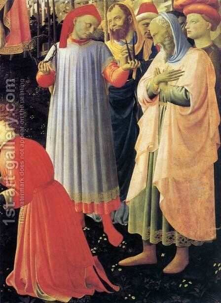 Deposition from the Cross (detail 6) 1437 by Angelico Fra - Reproduction Oil Painting