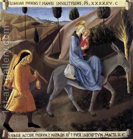Flight into Egypt 1450 by Angelico Fra - Reproduction Oil Painting