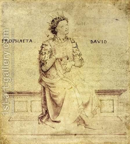 King David Playin a Psaltery  1430 by Angelico Fra - Reproduction Oil Painting