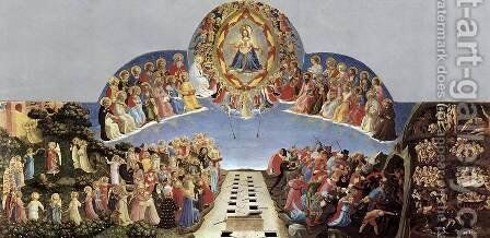 Last Judgement 1432 by Angelico Fra - Reproduction Oil Painting