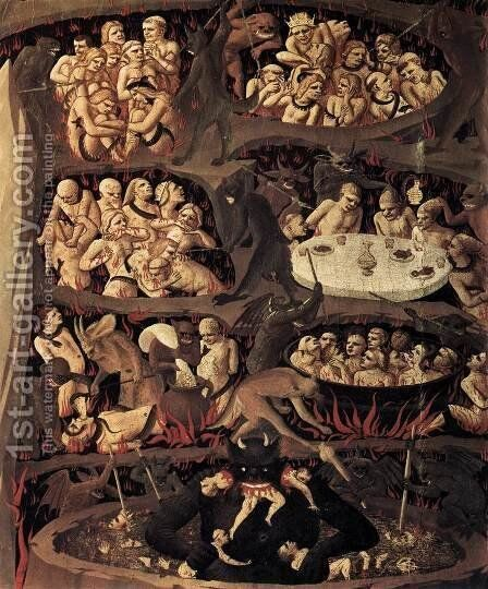 Last Judgement (detail 1) 1432 by Angelico Fra - Reproduction Oil Painting
