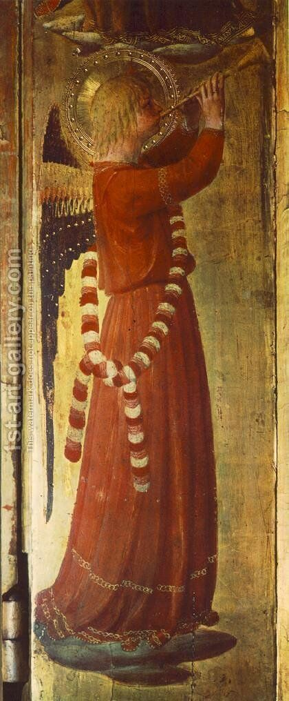 Linaioli Tabernacle (detail) 1433 by Angelico Fra - Reproduction Oil Painting